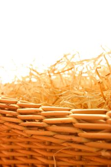 Free Wood Wool In The Basket Stock Photo - 731670