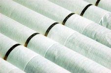 Super Macro On Cigarettes Stock Photos