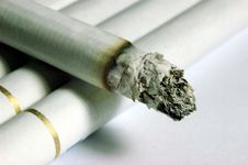 Super Macro On Cigarettes Stock Images