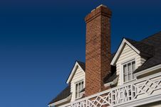Free Chimney Roof Stock Photography - 733212