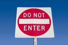 Free Do Not Enter Sign Royalty Free Stock Photos - 733348