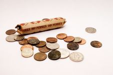 Free Roll Of Pennies Royalty Free Stock Photo - 735875