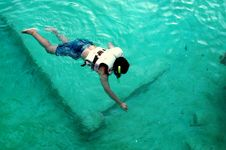 Free Snorkeling Royalty Free Stock Image - 735986