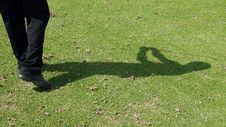 Free Golfer Shadow Royalty Free Stock Photos - 736258