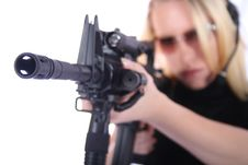 Sexy Woman With Guns Stock Images