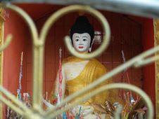 Free Buddha Through The Gates. Pai, Thailand Royalty Free Stock Photography - 736377