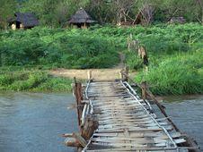 Free Over The Bridge And Into The Hut Royalty Free Stock Photography - 736597