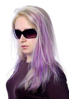Free Pretty Girl With Violet Hair Royalty Free Stock Photography - 737017