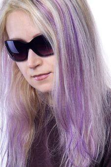 Free Pretty Girl With Violet Hair Stock Photos - 737363