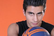 Free Player With Ball Stock Photography - 738482