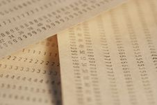 Free Papers With Numbers Stock Photos - 738743