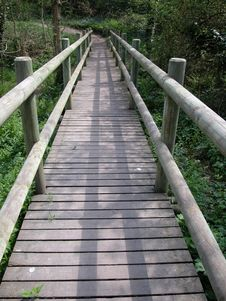 Free A Wooden Bridge Stock Photography - 738752