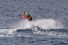 Beginner Wakeboarder Stock Photography