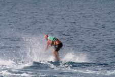 Free Beginner Wakeboarder Stock Image - 739151