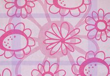 Flowery Kitchen Fabric Stock Photo