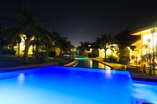 Free Night View Swimming Pool Stock Images - 73021824