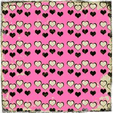 Distressed Hearts Stock Photo