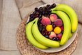 Free Wooden Bowl Of Fruits Stock Images - 73280294