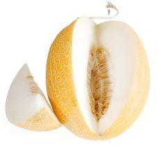 Free Melon Isolated On White Stock Image - 7335261