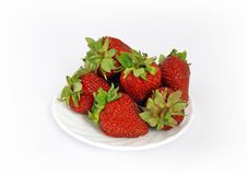 Strawberries On Plate Royalty Free Stock Image