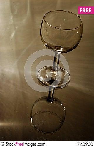 Empty Glass on Glass Stock Photo