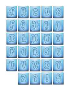 Free Water Texture Letters Stock Photography - 740152