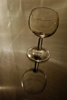 Free Empty Glass On Glass Stock Photo - 740900