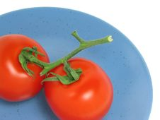 Free Two Red Tomatoes Stock Photo - 740950