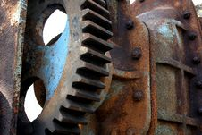 Free Rusty Machinery Royalty Free Stock Photos - 742558