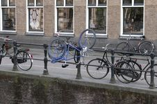 No Room For The Blue Bike!! Stock Photo