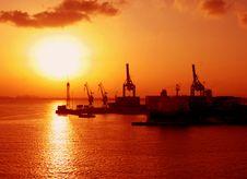 Free Harbor At Sunset Stock Photos - 744333