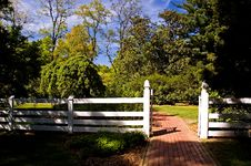 Free White Fence Gate Stock Photo - 744430