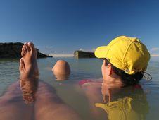 Free Lagoon With Couple Stock Photos - 744533