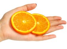 Free Orange In Hand Royalty Free Stock Photo - 744805