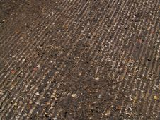 Free Tread Grooves Cut Into Road Royalty Free Stock Image - 744996