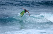 Free Surfer Hits The Lip Royalty Free Stock Image - 745336