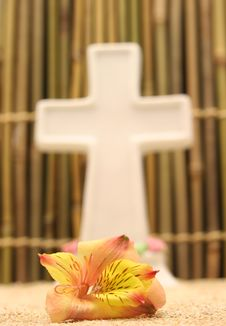 Free Flower And Cross Stock Photo - 745430