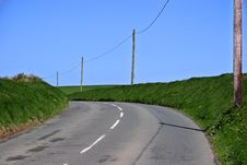 Free Country Road In Cornwall Royalty Free Stock Photography - 745787