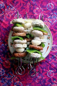 Free Kebabs Royalty Free Stock Photo - 745895
