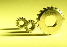 Free Yellow Gears Royalty Free Stock Photo - 747055