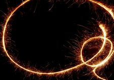Free Sparkler Trace Royalty Free Stock Images - 7416439