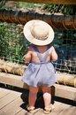 Free Cute Little Girl On Bridge Stock Photo - 7430580