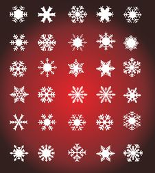 Free White Snowflakes Royalty Free Stock Photography - 7433647