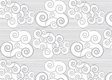 Free Japanese Pattern With Clouds Royalty Free Stock Photos - 74405518