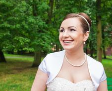 Free Portrait Of A Bride In A City Park Royalty Free Stock Photo - 74773505