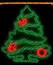 Free Christmas Tree - Xmas Lights Royalty Free Stock Photography - 7497477