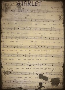 Free Old Sheet Music Stock Photography - 7494732