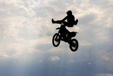 Free Motorcircle Rider Silhouette Stock Image - 74959351