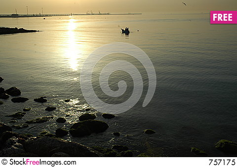 Free Fishing In Italy At Dawn Royalty Free Stock Photo - 757175