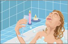 Relaxing In The Bath Royalty Free Stock Photography